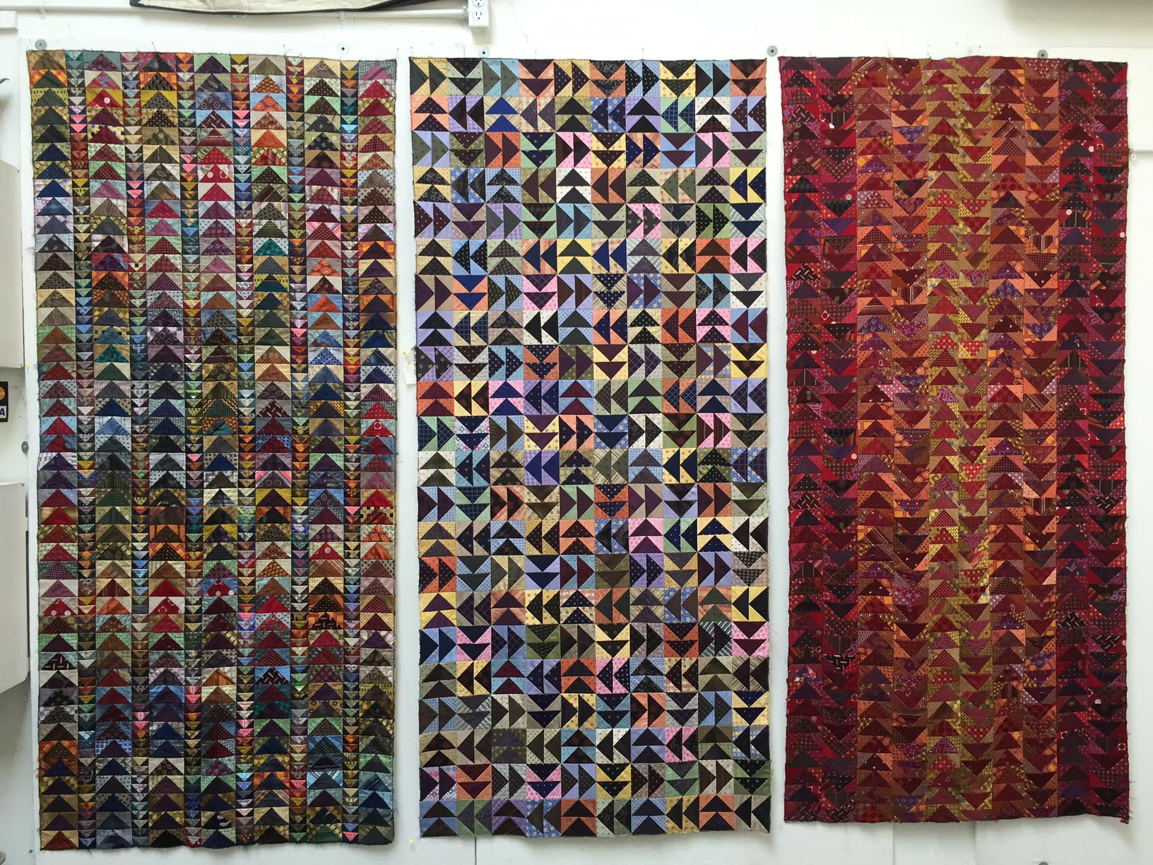 Silk quilts by Julia Mcleod of Silk and Salvage